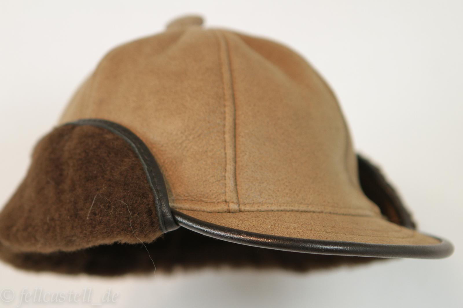 Schirmmütze aus Lammfell braun/braun 3