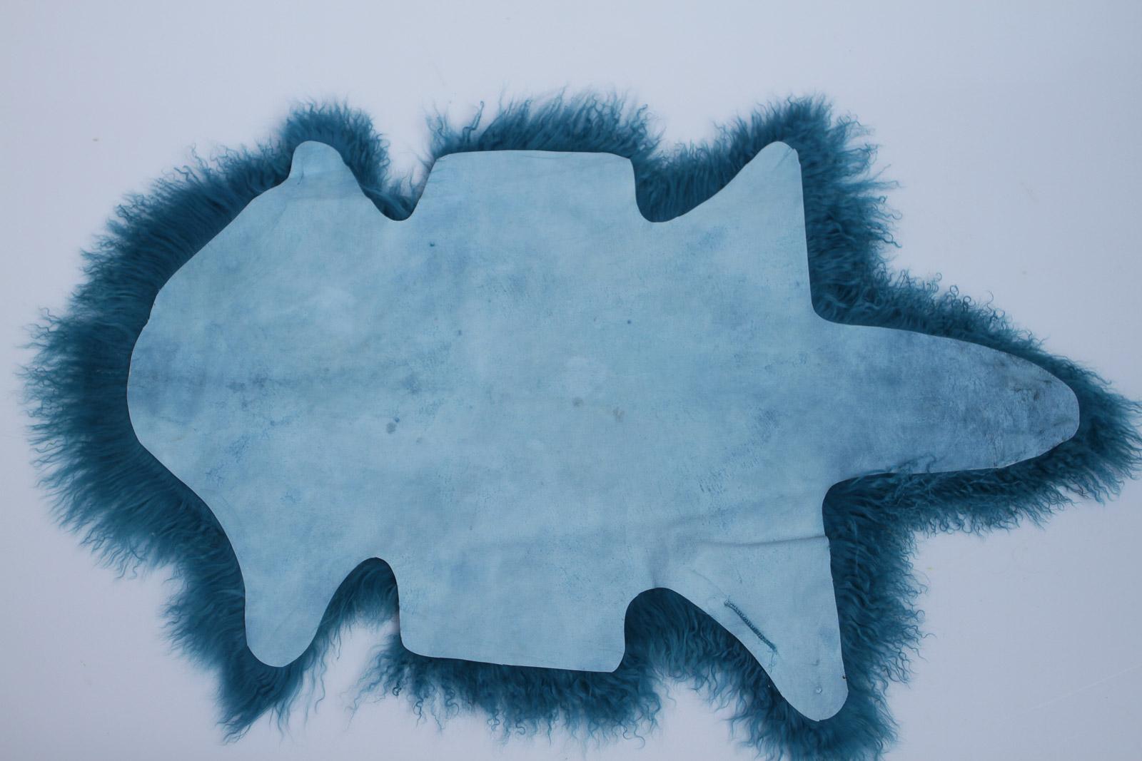 Tibet Lammfell Tibetlammfell Petrol 85 x 45 cm Petrol | 85 x 45 cm