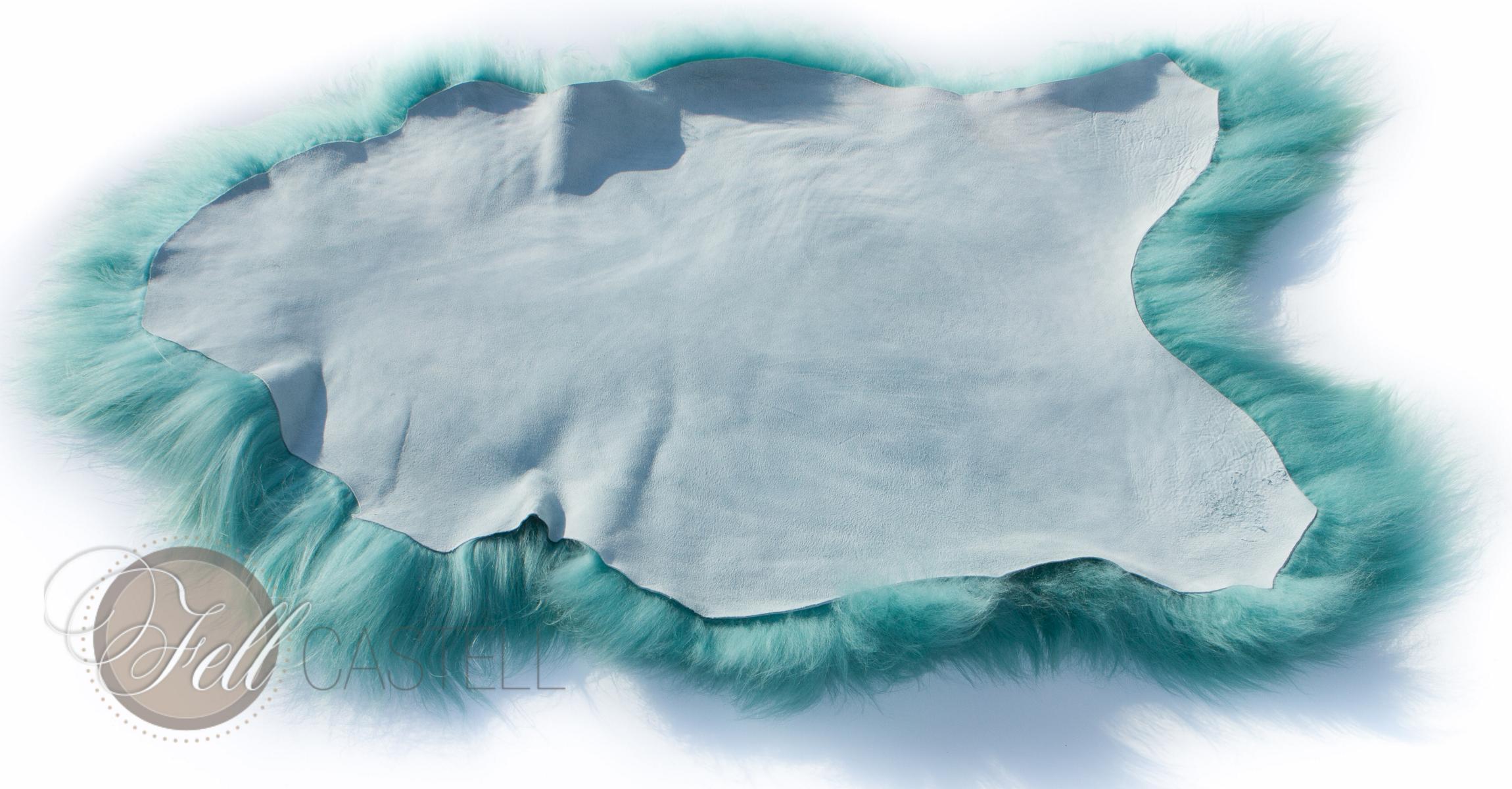 Island Schaffell Pastell Türkis 100 x 55 cm 100 x 55 cm
