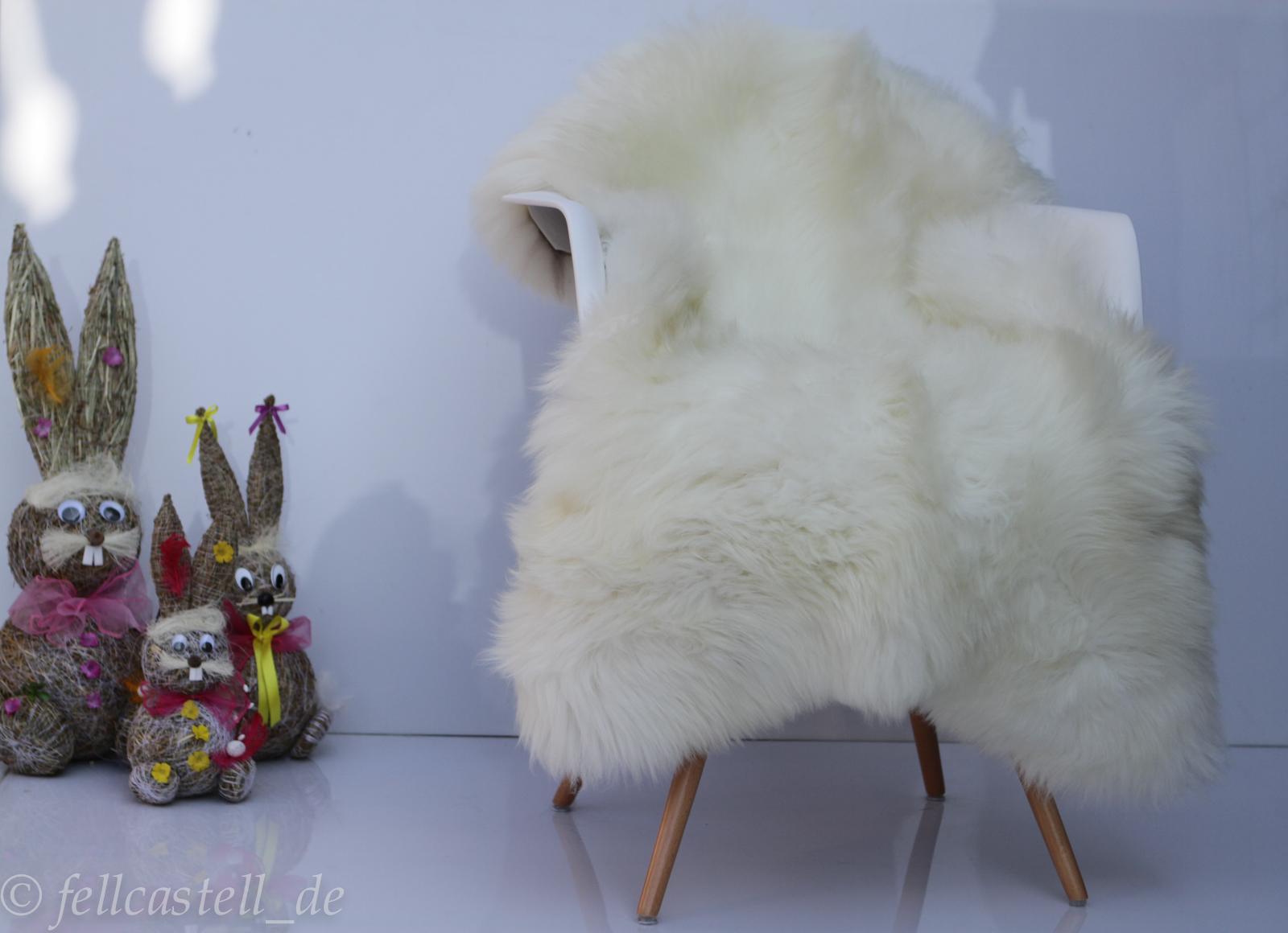 Schaffell | Lammfell naturweiss - nicht gebleicht