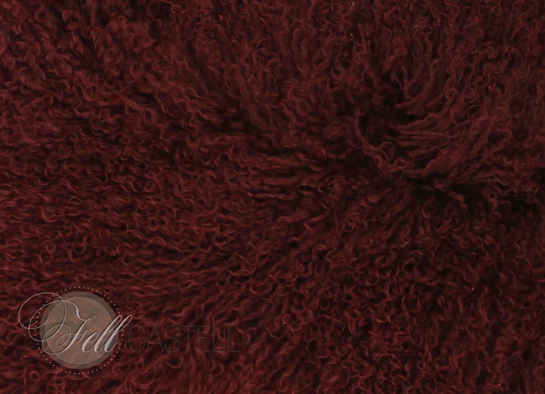Stola Boa Schal Tibetlamm Tibetlammfell 150cm Tawny Port Bordeaux