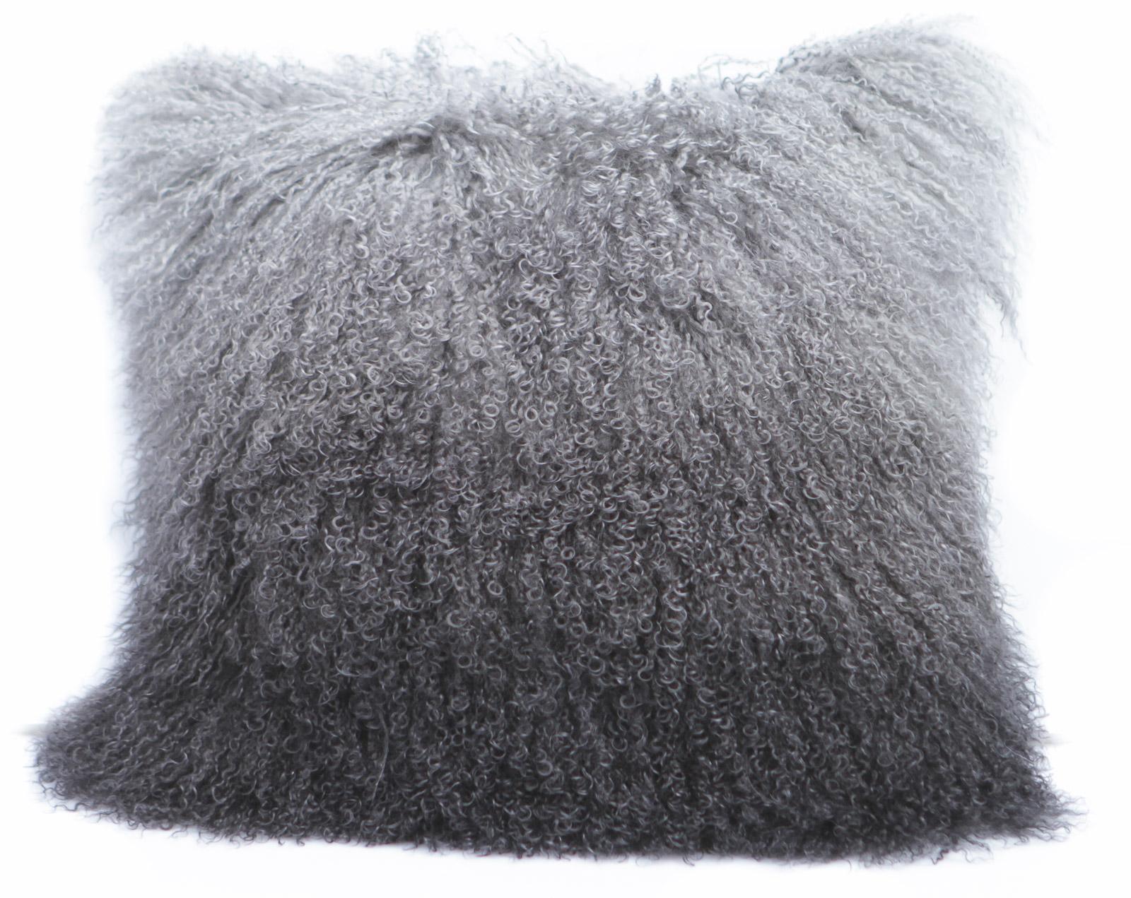 Tibet Lammfell Kissen Hülle Grey Gradient Grey Gradient 40 x 40 cm Grey Gradient | 40 x 40 cm