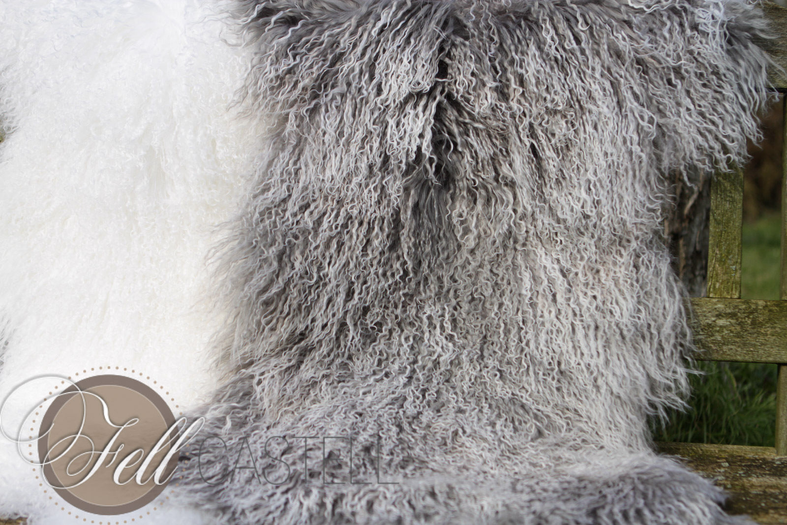 Skórka owcy tybetanskiej biala