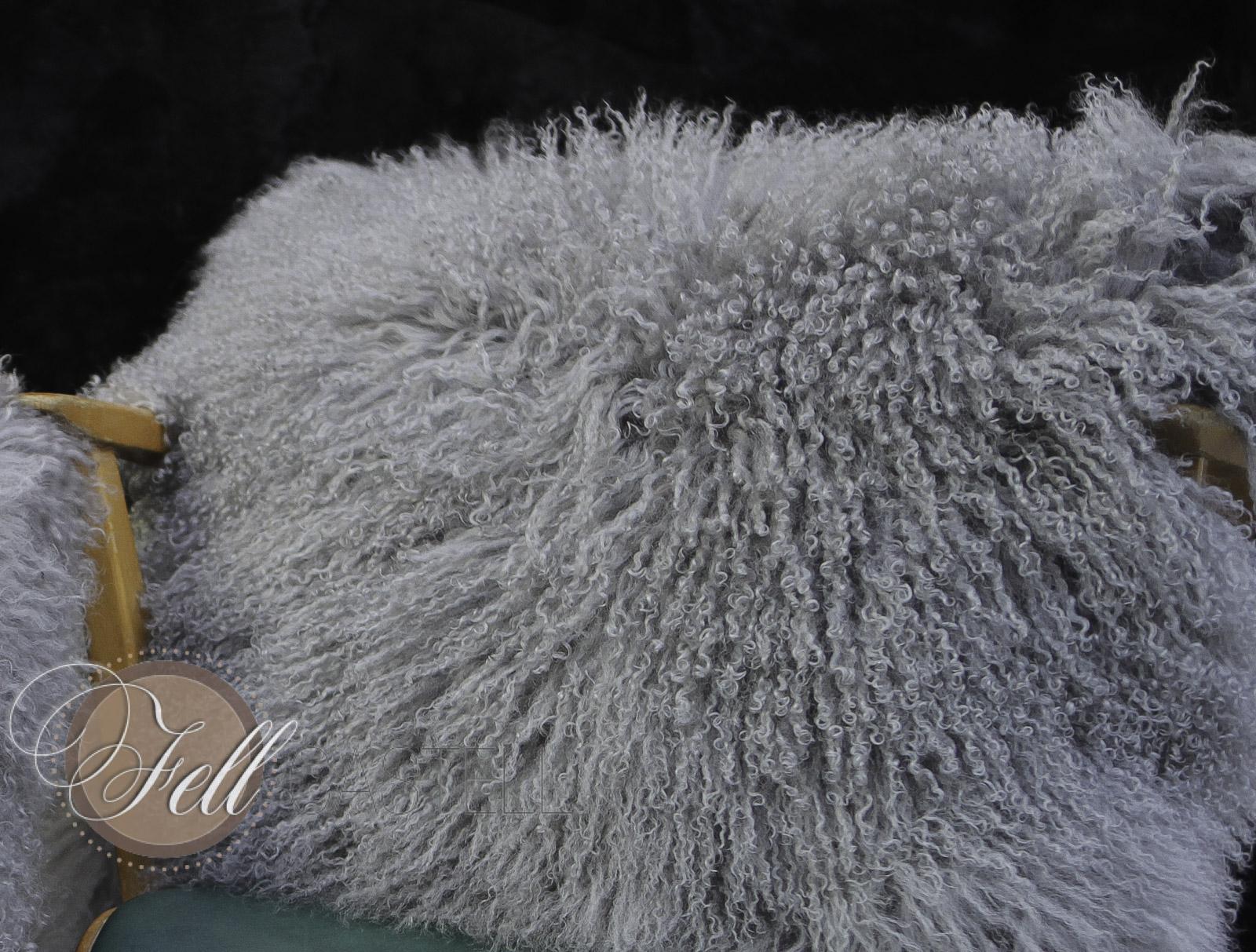Tibetan Lambskin Lamb Cushion Pillow 12 x 12 inch Mongolian Lambskin