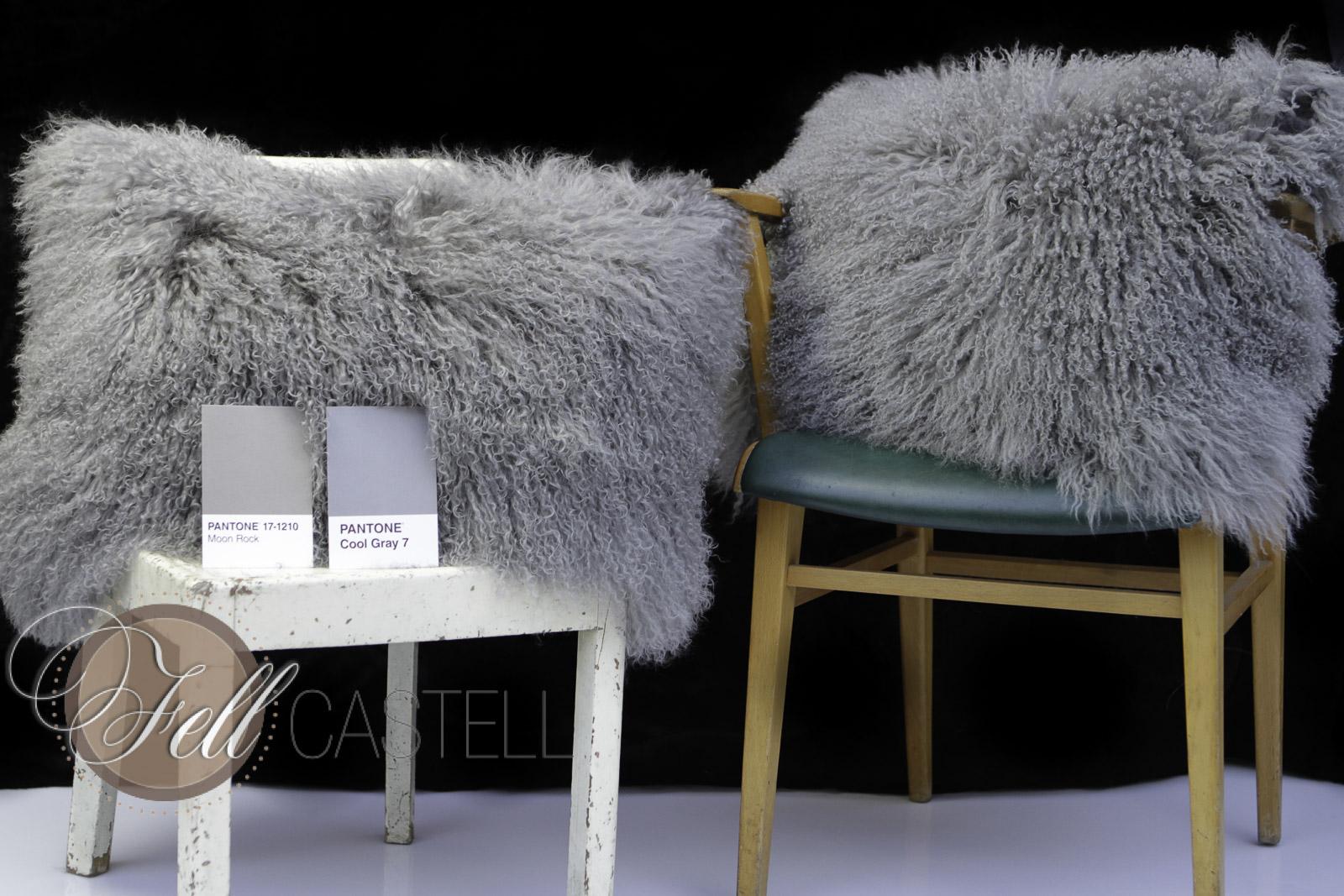 Kissen Tibet Lammfell Stone Grey 45 x 45 cm 45 x 45 cm