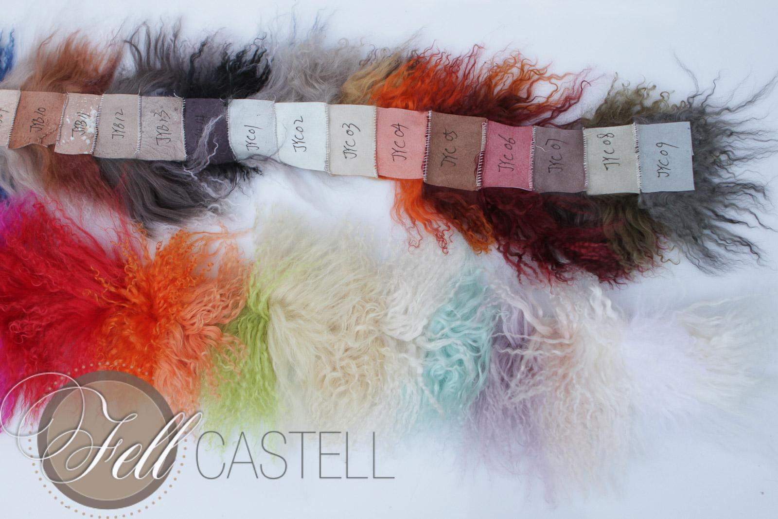 Musterstreifen Tibetlammfell 60 Farben