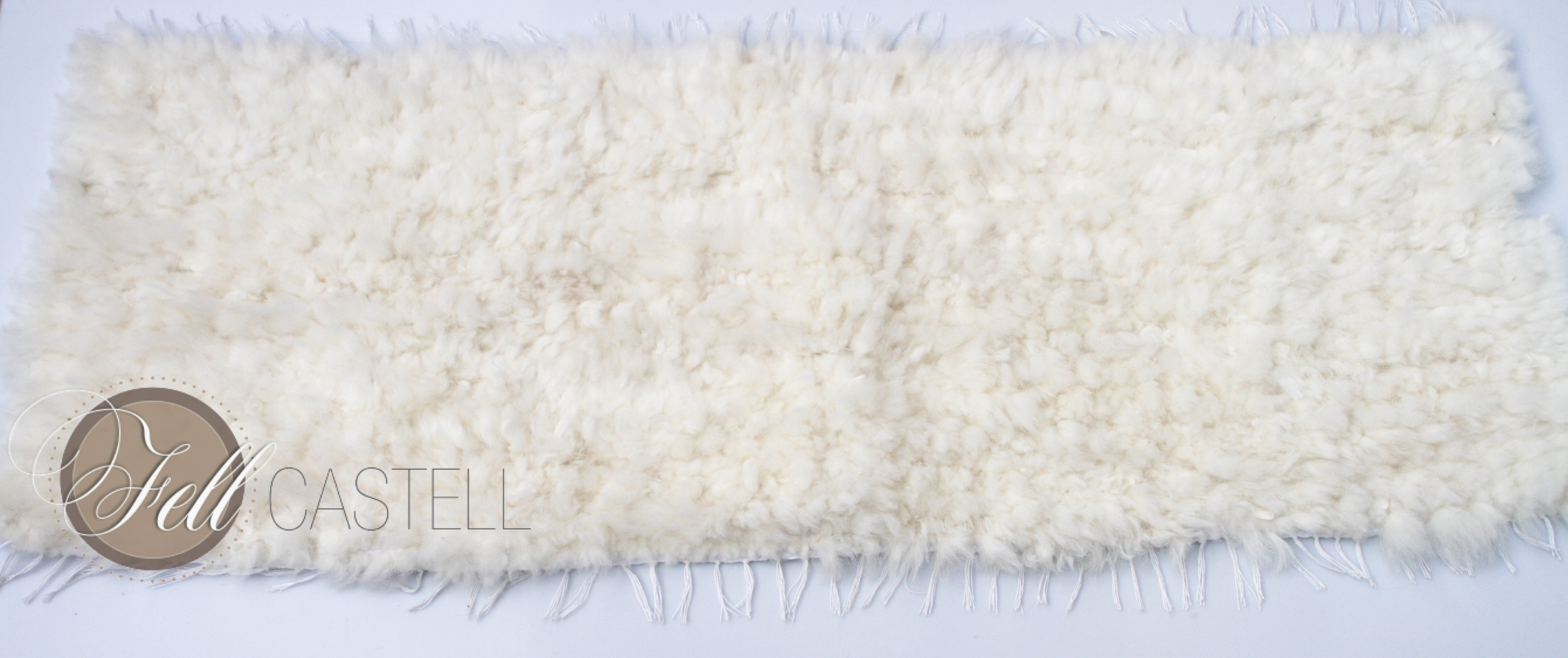 Schaffell Teppich naturweiss Island Schaffell gewebt Lammfellteppich