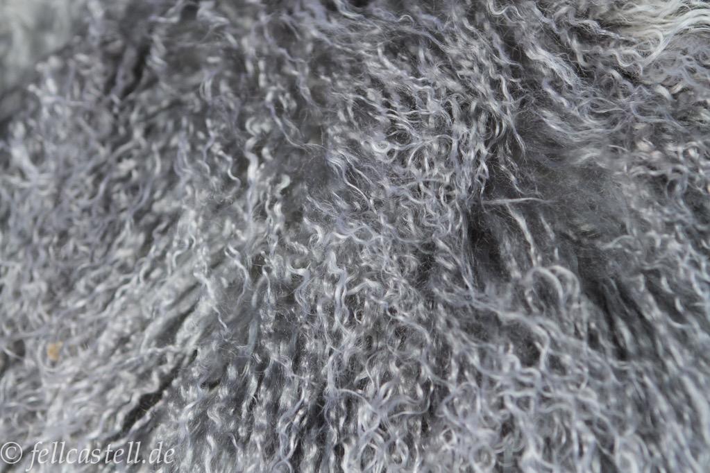 tibetlamm felldecke 200x160 cm abgef ttert silbergrau grau mit hellen spitzen ebay. Black Bedroom Furniture Sets. Home Design Ideas